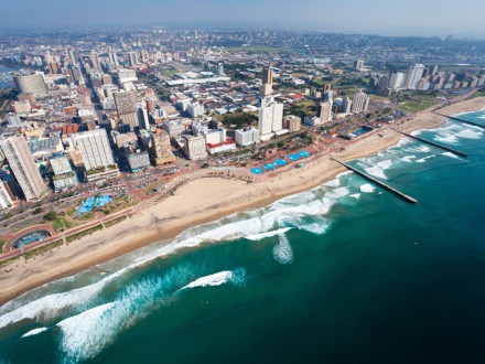 Aerial view of Durban Beachfront